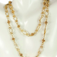 Etruscan Revival 14k Gold Necklace Chain 27.5g