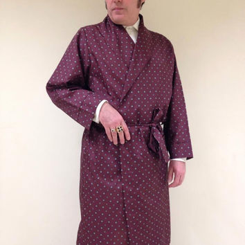 Vintage Men's Robe, Dressing Gown, Night Wear, Lounge Wear. By Somax.