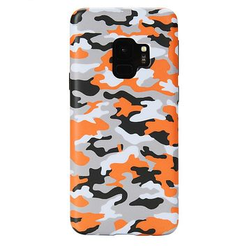 Orange Camo Samsung Galaxy Case