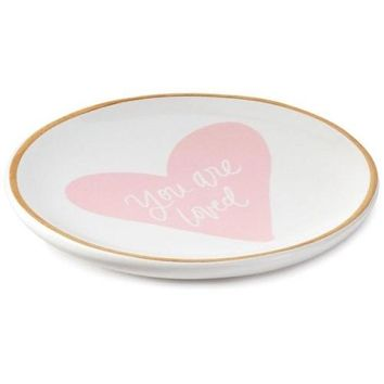 Hallmark You Are Loved Round Ceramic Trinket Tray