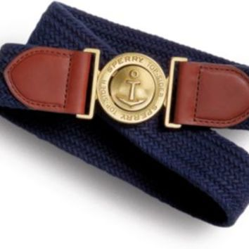 Sperry Top-Sider Wool Stretch Belt NavyWool, Size XL  Women's