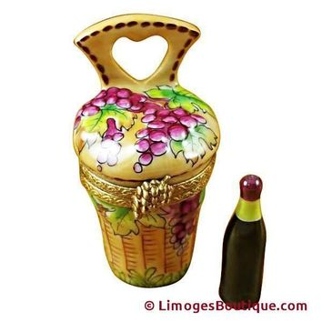 WINE CARRIER W/BOTTLE LIMOGES BOXES