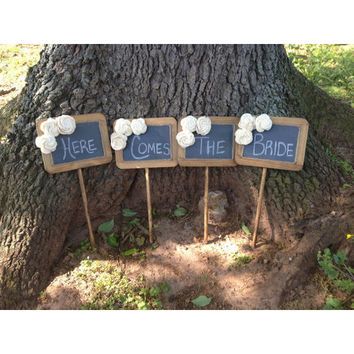 Country Barn Babe Set of 4 Rustic Wedding Chalkboards Signs