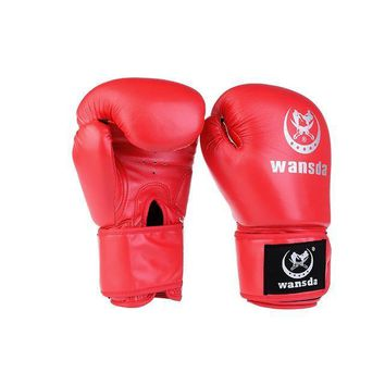Faux Leather Boxing Gloves for Sand Bag Punch Training