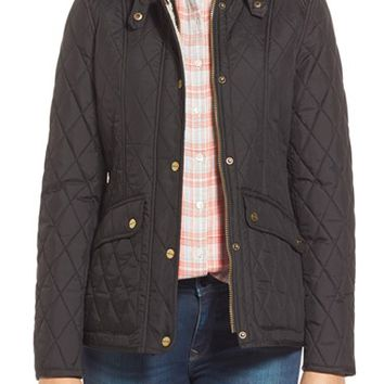 London Fog Quilted Jacket with Faux Shearling Trim | Nordstrom