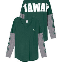 University of Hawaii Long Sleeve V-neck Tee - PINK - Victoria's Secret