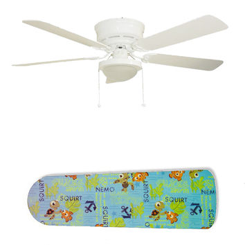 "Finding Nemo and Squirt 52"" Ceiling Fan and Lamp"