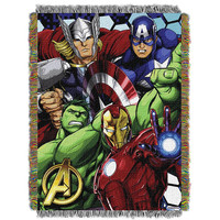 Marvel Avengers Best Team  Woven Tapestry Throw (48inx60in)