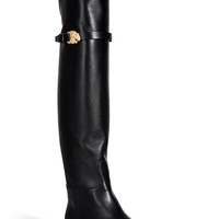 Valentino - Leather Over-the-Knee Animalia Boots