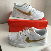 """Nike Air Force 1"" Unisex Sport Casual Classic Fashion Low Help Plate Shoes Couple Sneakers"