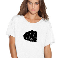 Fist Bro Boxy Flowy ladies Tshirt