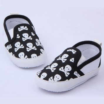 Lovely Baby Boys Girls First Walkers Shoes Skull Toddler Soft Sole Antislip Kids Infant Shoe 0-12 Months