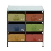Woodland Imports Colorful Metal Wood Storage Chest & Reviews | Wayfair