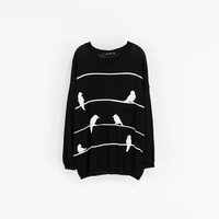 OVERSIZE JACQUARD SWEATER - Knitwear - WOMAN | ZARA United States