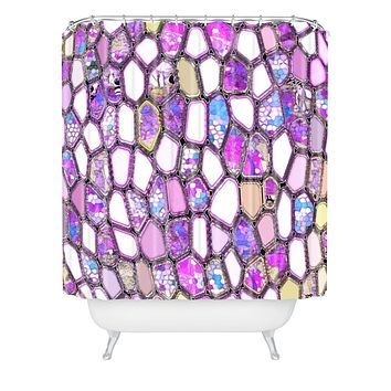 Ingrid Padilla Violet Cells Shower Curtain