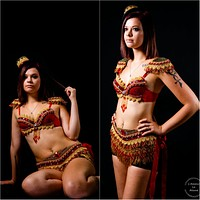Red and Gold Fringe Ring Leader Costume