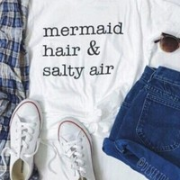 Mermaid hair & salty air graphic tee