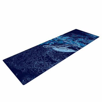 "Frederic Levy-Hadida ""The Turtle Way"" Aqua Blue Yoga Mat"