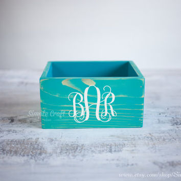 Personalized recipe box recipe cards box 4x6 bridal shower recipe box wooden recipe card box blue memory recipe box wooden recipe organizer