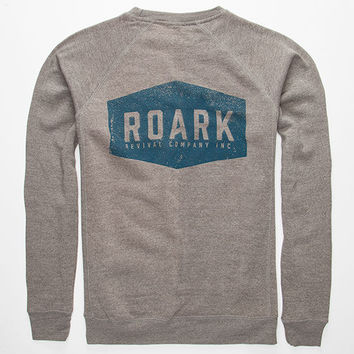 Roark Plaque Mens Sweatshirt Heather Grey  In Sizes