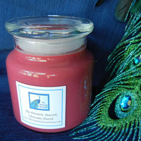 Christmas Hearth Scented Double Wicked Soy Candle in Apothecary Jar