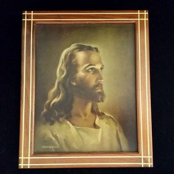 "Warner Sallman ""Head of Christ"" Lithograph & Last Rites Set"
