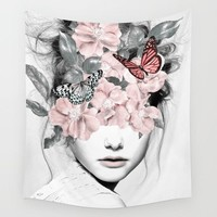 Butterfly Thoughts Fabric Wall Tapestry