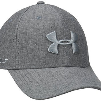 Under Armour Men's Rich Golf Adjustable Cap, Black/Steel/Steel, One Size