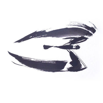 nighthawk ink painting // matted print