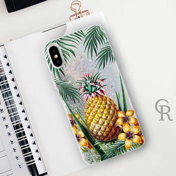 Pineapple Glitter Phone Case Clear Case For iPhone 8 iPhone 8 Plus - iPhone X - iPhone 7 Plus - iPhone 6 - iPhone 6S - iPhone SE  iPhone 5