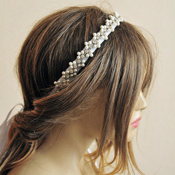 Wedding hair accessories, Rhinestone and Pearl headband, bridal headband, wedddings, Hair Accessory, hair accessories, bride, headpiece