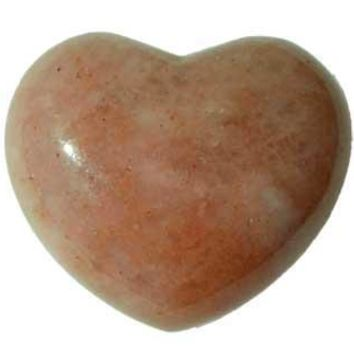 "1 3-4"" Strawberry Quartz Heart"
