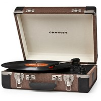 Crosley Executive Portable USB Turntable CR6019A-TL - Plays Records and Converts Records to Digital - Tweed