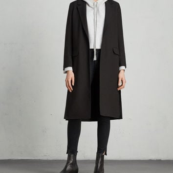 ALLSAINTS US: Womens Aleida Duster Coat (black)