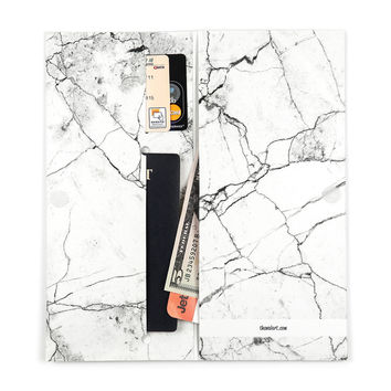 The White Marble Passport Wallet