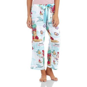 Women's Little Mermaid Capri Sleep Pant (Sizes S-3X) - Walmart.com