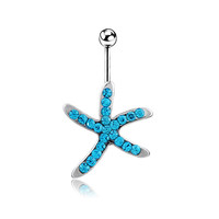 New Charming Dangle Crystal Navel Belly Ring Bling Barbell Button Ring Piercing Body Jewelry = 4651260484