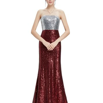 Prom Dresses New Arrival Women Strapless Flare Sequins Long Elegant Sexy On Line Evening Party HE08372SB 2017 Prom Dresses
