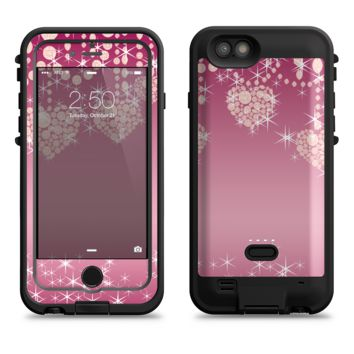 The Pink Sparkly Chandelier Hearts  iPhone 6/6s Plus LifeProof Fre POWER Case Skin Kit