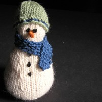 Knitted Snow Family Junior Snowman