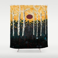 :: Red Moon Love Song :: Shower Curtain by :: GaleStorm Artworks ::