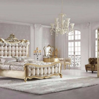 """Charlene"" Luxury French Reproduction Baroque Bed"