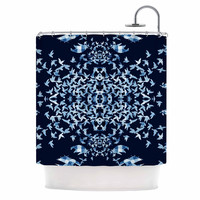 "Marianna Tankelevich ""Night Birds"" Blue Abstract Shower Curtain"