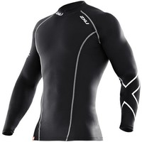 2XU Men's Compression Long Sleeve Top (Black/Black, Large)