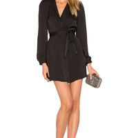 AVEC LES FILLES Wrap Dress in Black | REVOLVE