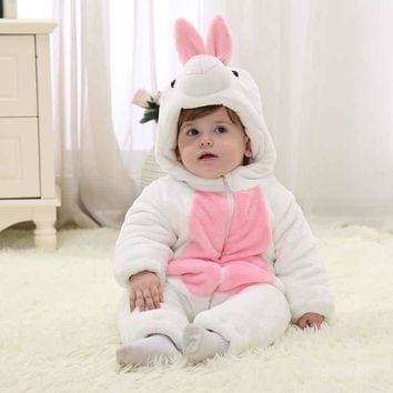 2017 new fall infant toddleradorable baby clothes white bunny romper baby costumes halloween party costumes for baby