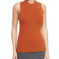 Alanna Sleeveless Merino Top, Umber, Size: