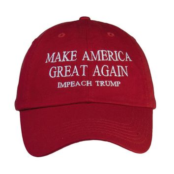 Make America Great Impeach Trump Adjustable Cap