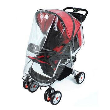 Fashion Universal Waterproof Plastic Cover For Baby Carriage Stroller To Protect Child From Rain Wind 67