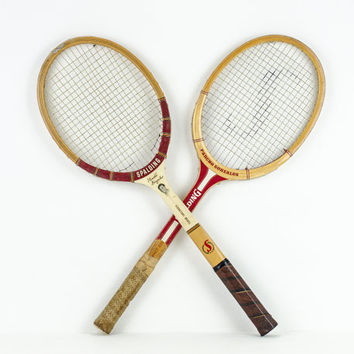 Vintage Pancho Gonzales Spalding Tennis Rackets